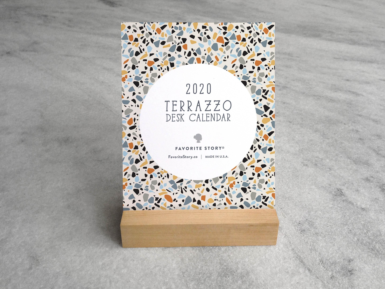 2020 Desk Calendar Terrazzo Desk Calendar 2020 2020 | Etsy inside U Of R 2020 Calendar