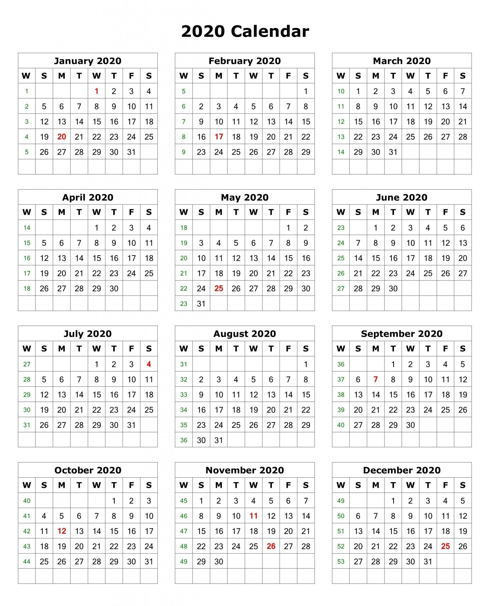 photo regarding Printable Calendar on One Page called 2019 And 2020 Calendar One particular Website page - Calendar Determination Structure