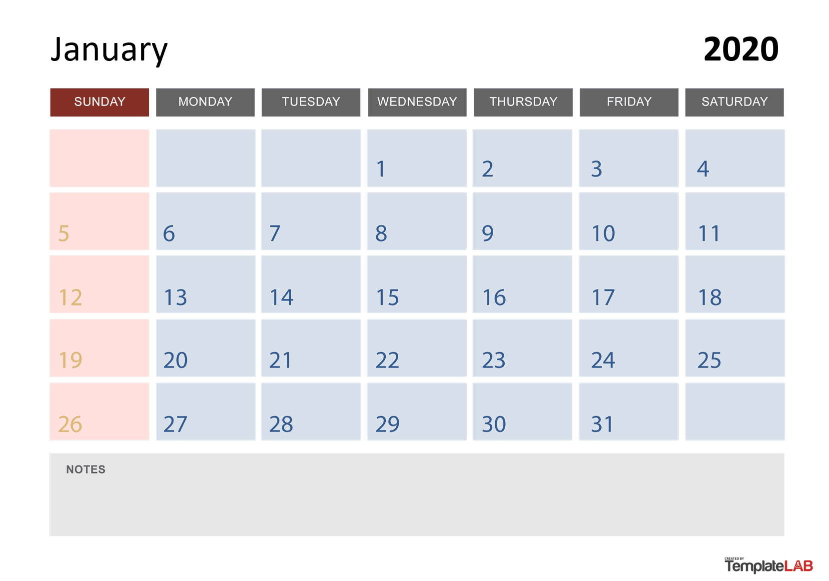 2020 Printable Calendars [Monthly, With Holidays, Yearly] ᐅ in 2020 Calendar With Space To Write