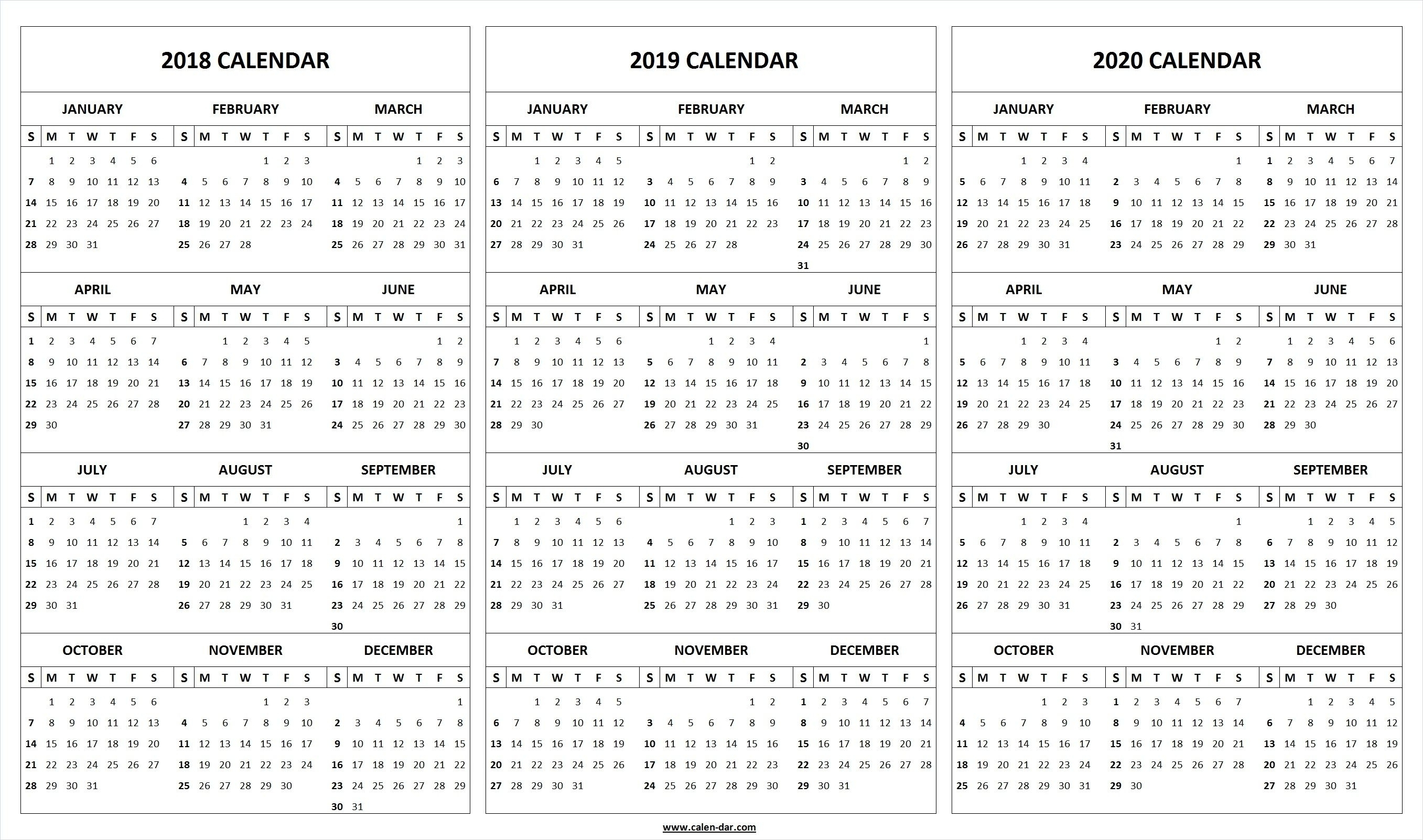 2020 Year At A Glance Basic Word | Template Calendar Printable with regard to 2020 Year At A Glance Basic Word