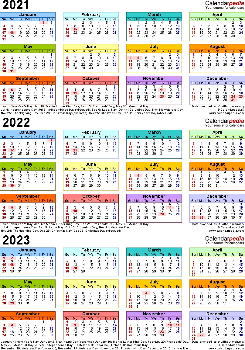 Printable Calendar For 2019/2020/2021/2022/2023 - Calendar ...