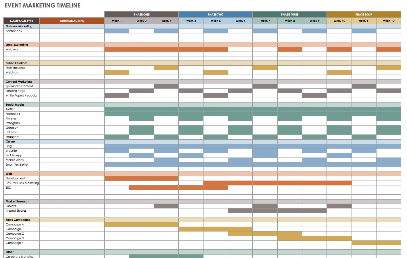 21 Free Event Planning Templates | Smartsheet regarding Calendar Of Events Template Free