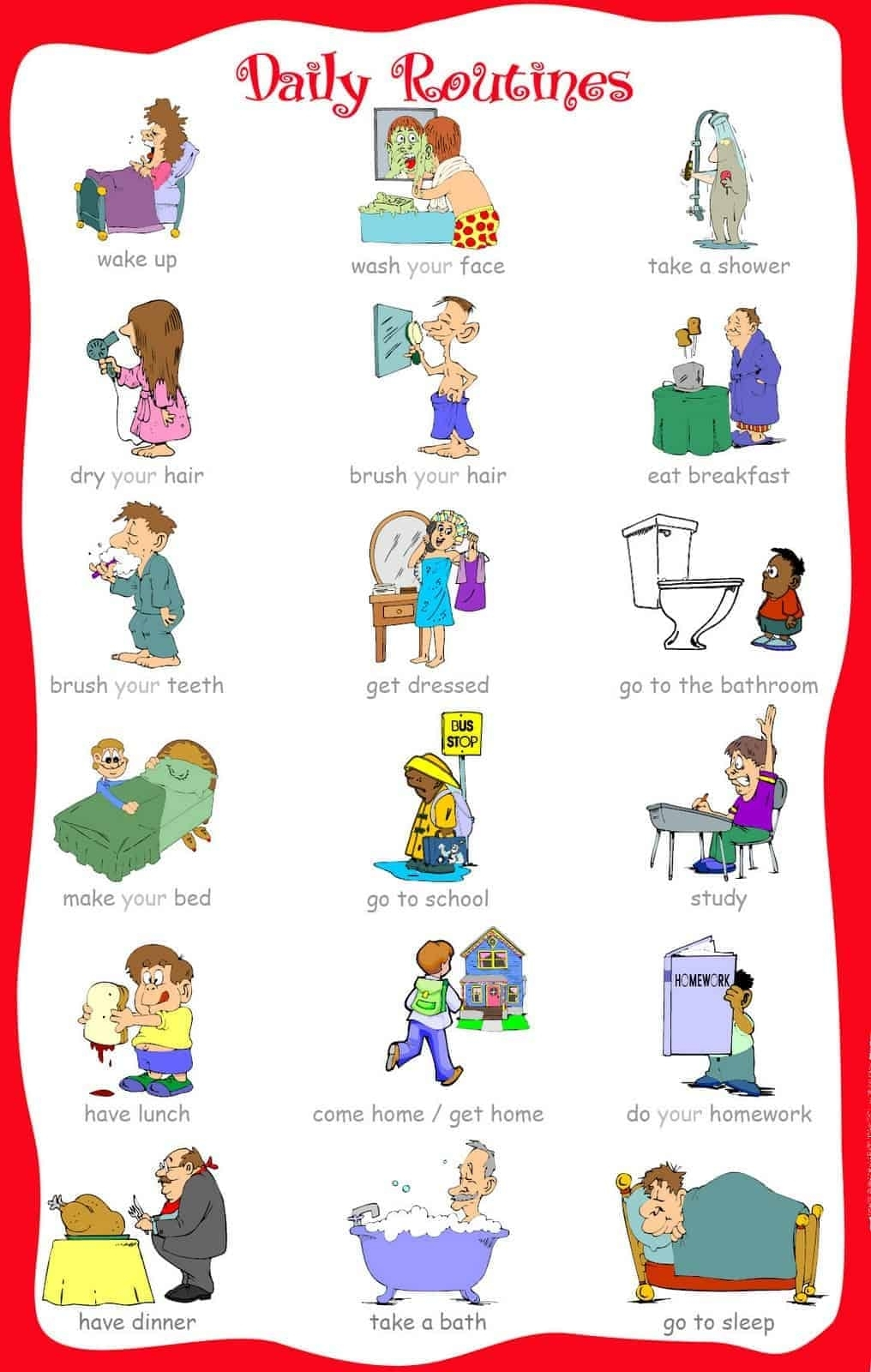 33 Printable Visual/picture Schedules For Home/daily Routines. regarding Free Printable Picture Schedules For Children