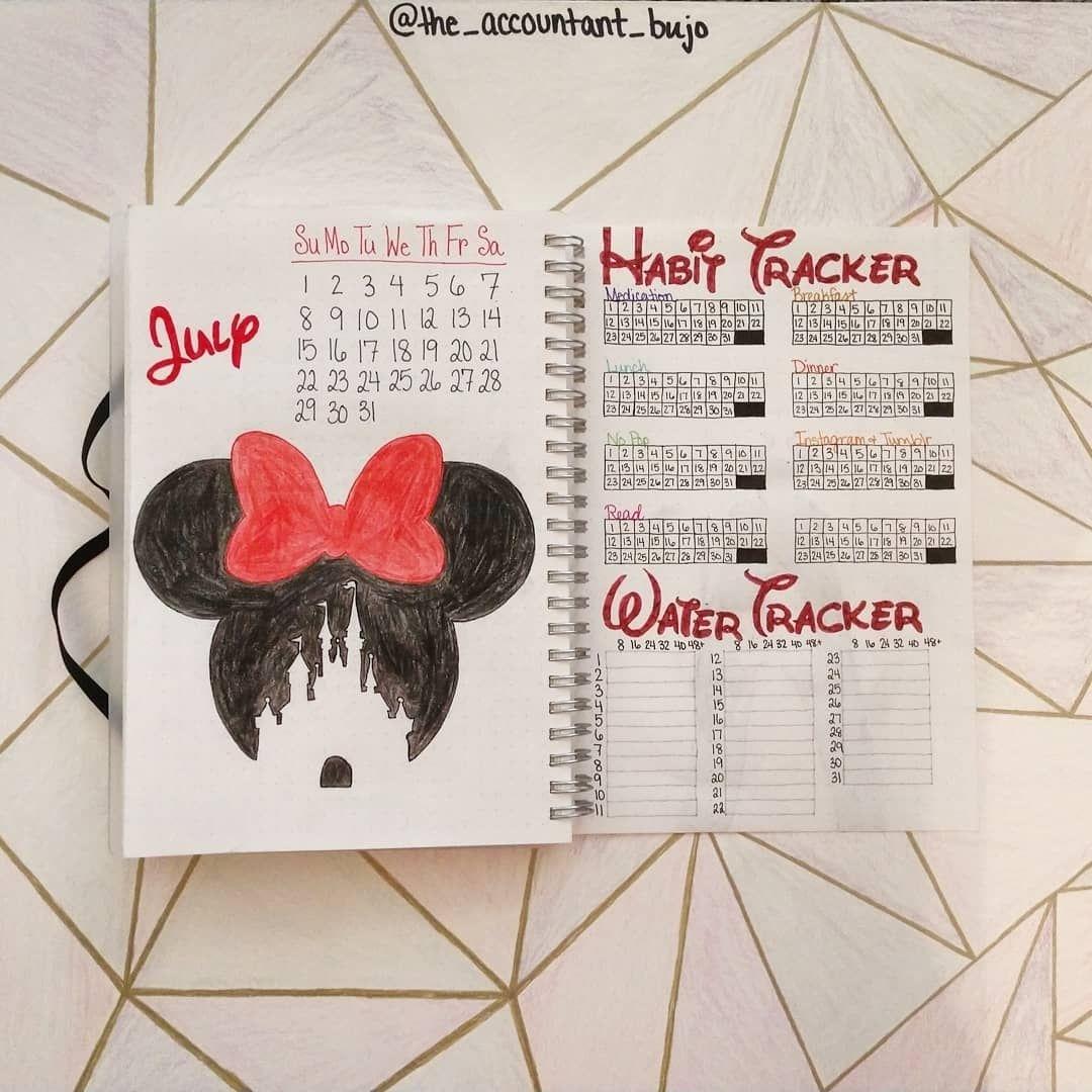 37 Imagination Inspiring Disney Bullet Journal Spreads | Bullet regarding 2020 Bullet Journals