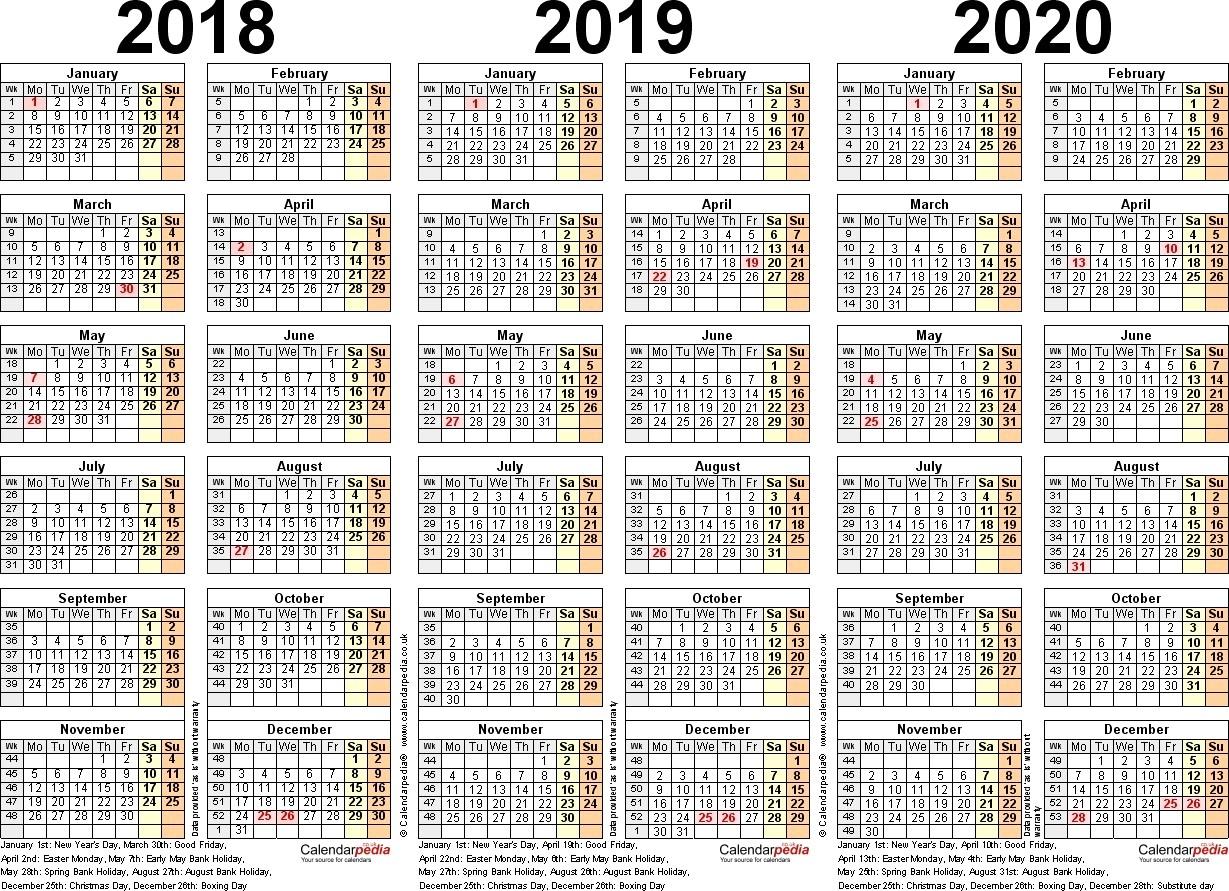 3Year Calendar | Jcreview for Gmu Calendar 2019-2020