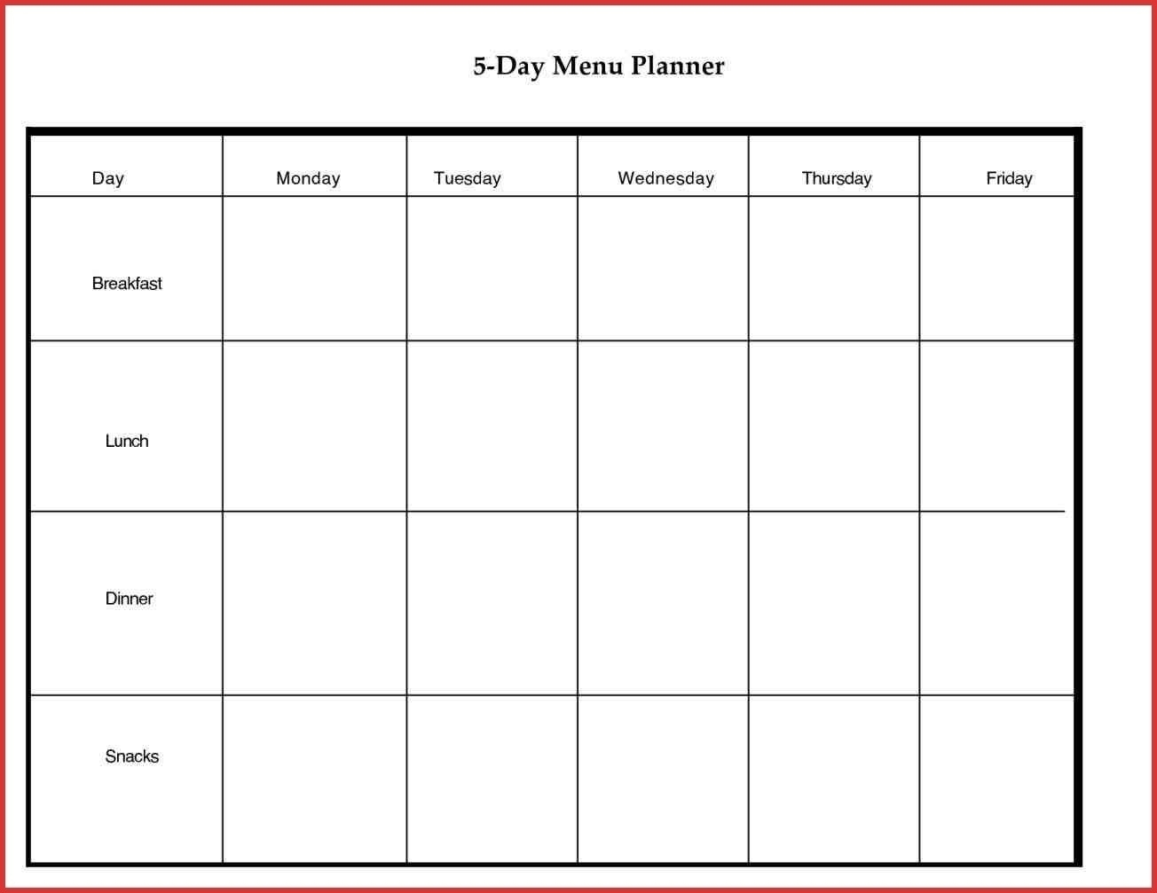 5 Day Monthly Calendar Free • Printable Blank Calendar Template inside Free Printable 5 Day Calendar