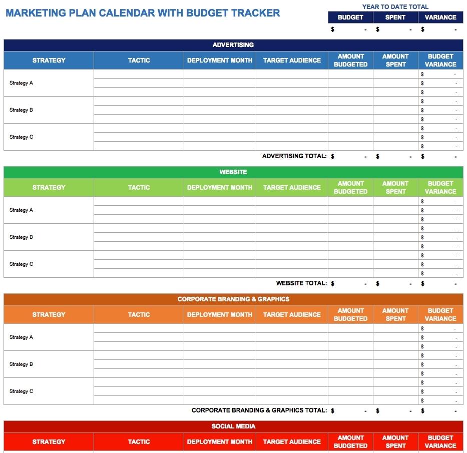 9 Free Marketing Calendar Templates For Excel - Smartsheet with Schedule Of Activities Calendar Format