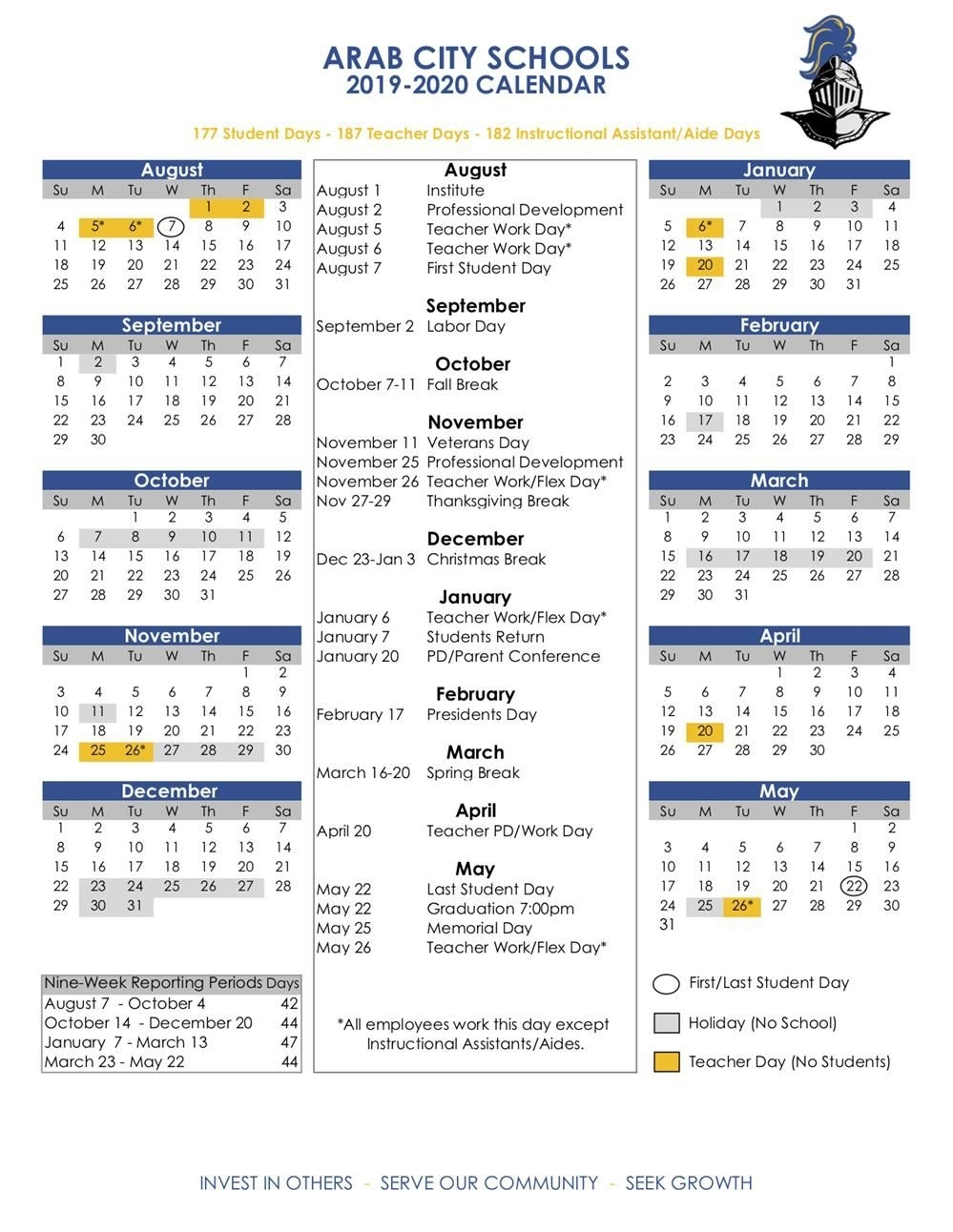 Academic Calendars / 2019-20 Acs Calendar pertaining to Calendar 2020 Pdf Romania