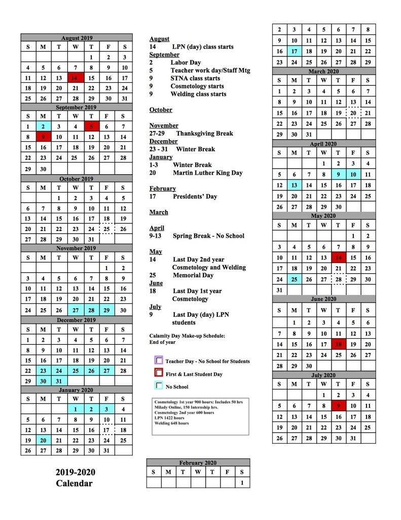 Alliance City School District intended for Stephen F Austin Calendar 2019 - 2020