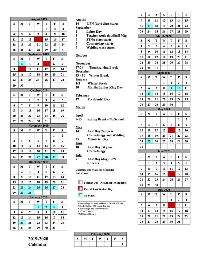 Alliance City School District with Stephen F Austin 2019 2020 Calendar