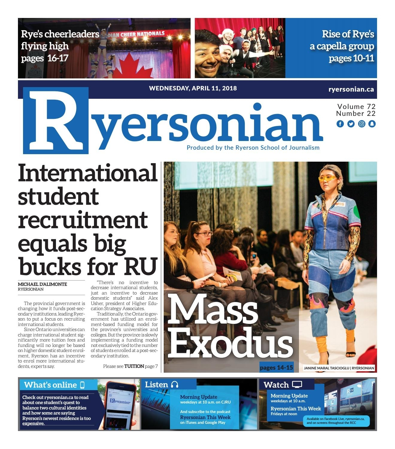 April 11, 2018 Issuetheryersonian - Issuu pertaining to Reading Week Ryerson 2020