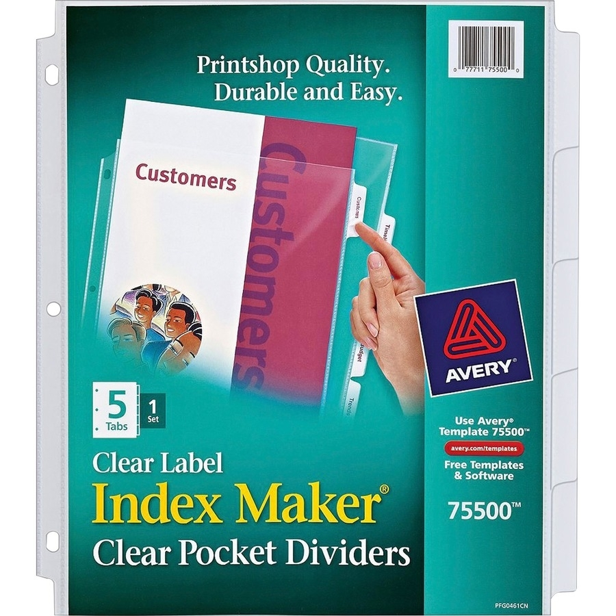 Avery® Index Maker Print & Apply Clear Label Sheet Protector inside Free Printable Number Labels 1-31