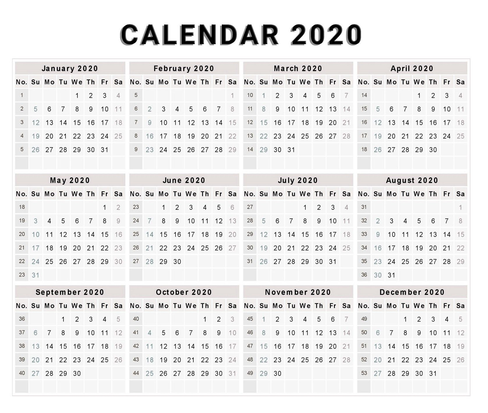 Half Page Calendars 2020 Printable - Calendar Inspiration ...