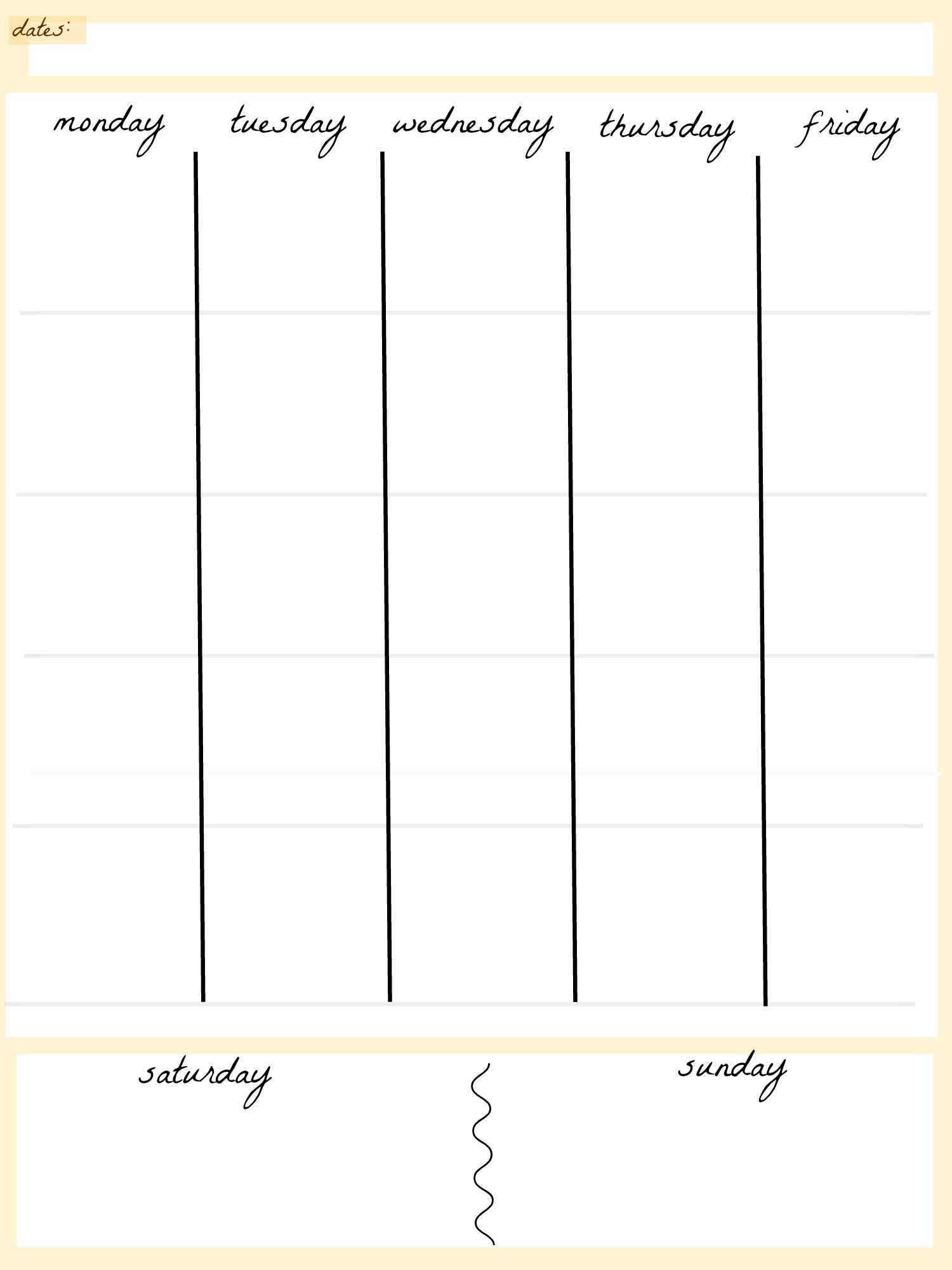 Blank Calendar Template 5 Day Week Weekly Calendar 5 Day Travel Cal1 in Weekly Calendar Template 5 Days