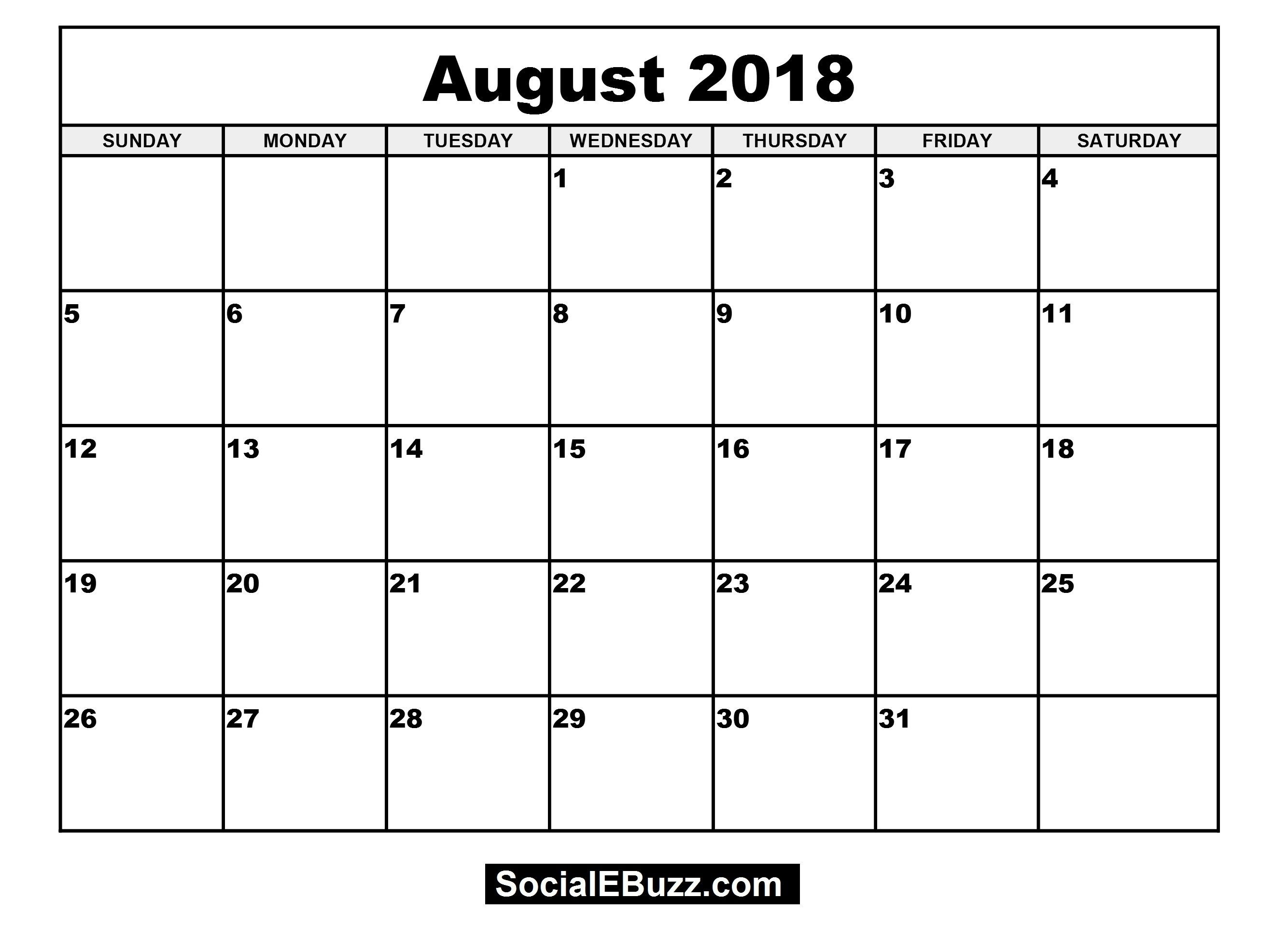 Blank Monthly Calendar For 4×6 2018 Printable For 100 % Free pertaining to 4X6 Blank Monthly Calendar Template