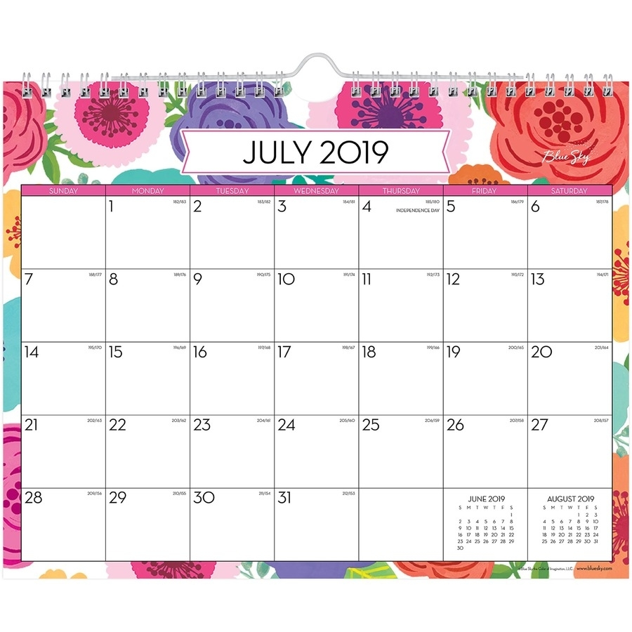 Blue Sky Mahalo Monthly Wall Calendar - Yes - Monthly - 1 Year throughout July 2019 June 2020 Calendar