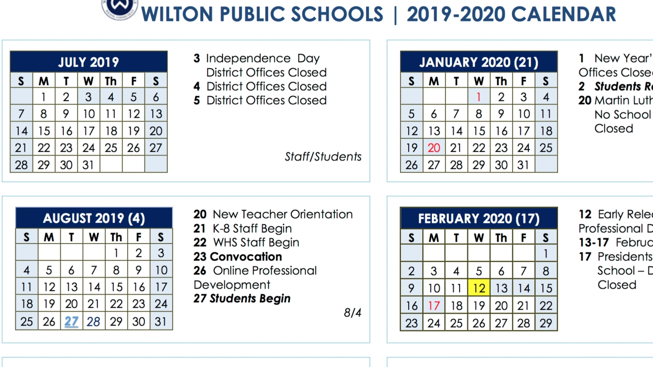 Board Of Education Approves 2019-2020 And 2020-2021 School Year pertaining to Year Calendar 2020 Special Days