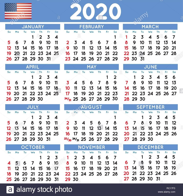 Calendar 2020 Stock Photos & Calendar 2020 Stock Images - Alamy pertaining to 2020 8 X 10 Calendars