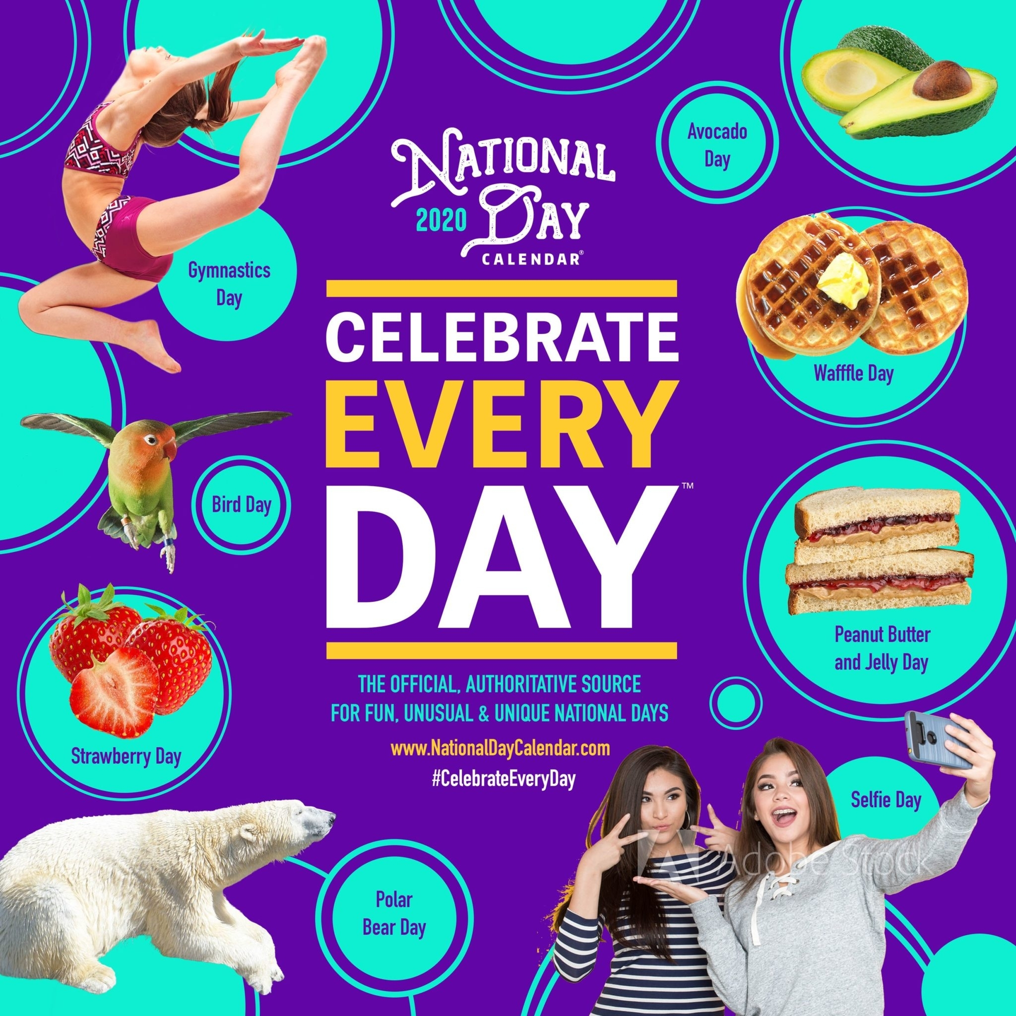 Calendar At A Glance - National Day Calendar in National Day Calendar 2020 Printable