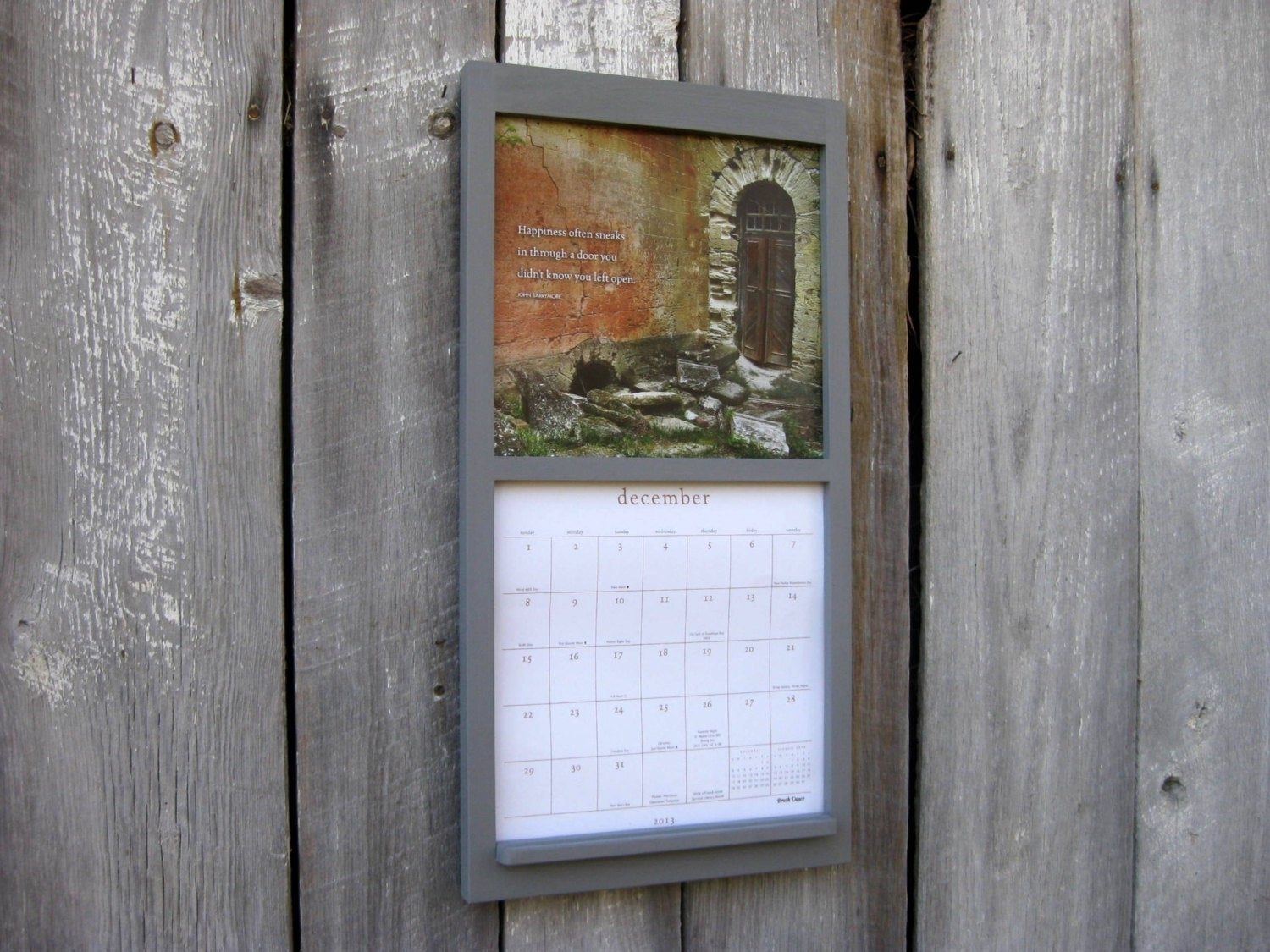 Calendar Holder Hanging Calendar Frame For 12 X 24 | Etsy regarding 12 X 12 Wall Calendar Holder