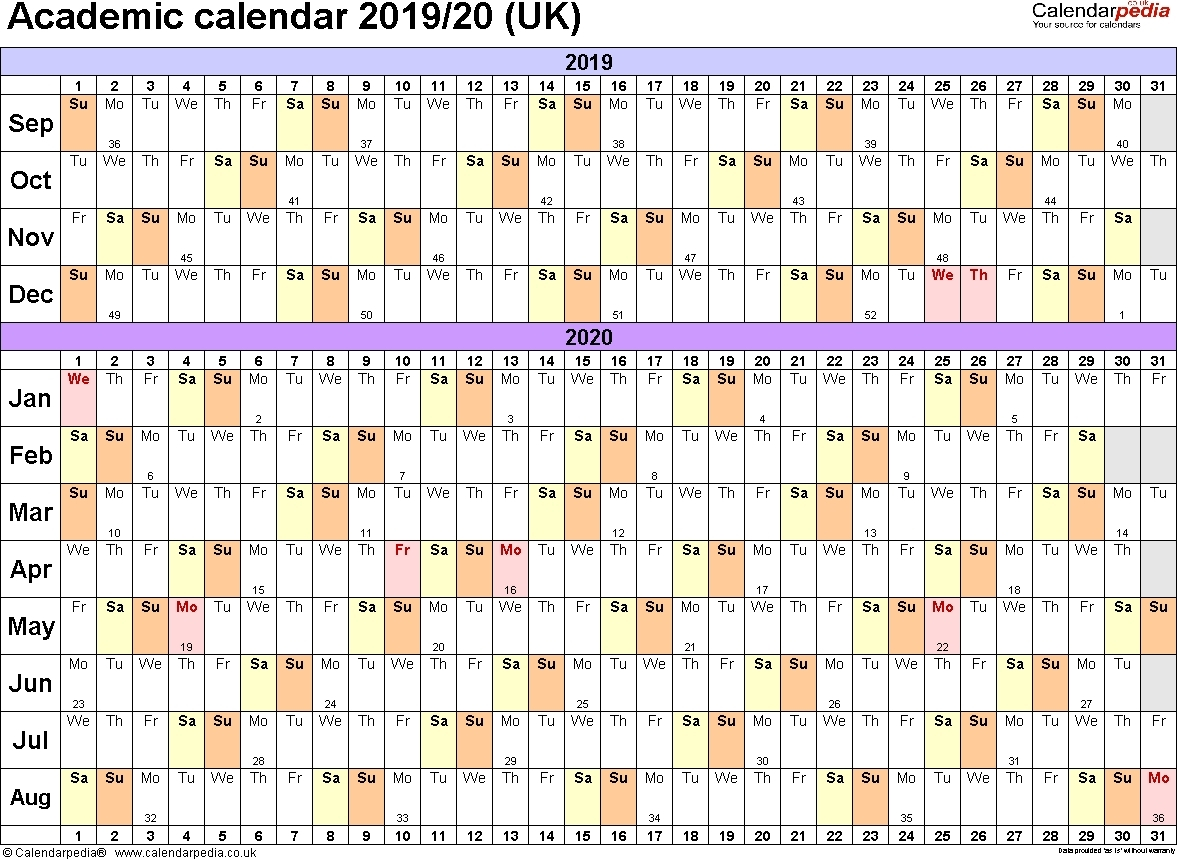 Calendar July 2019 To June 2020 | Template Calendar Printable for July 2019 June 2020 Calendar