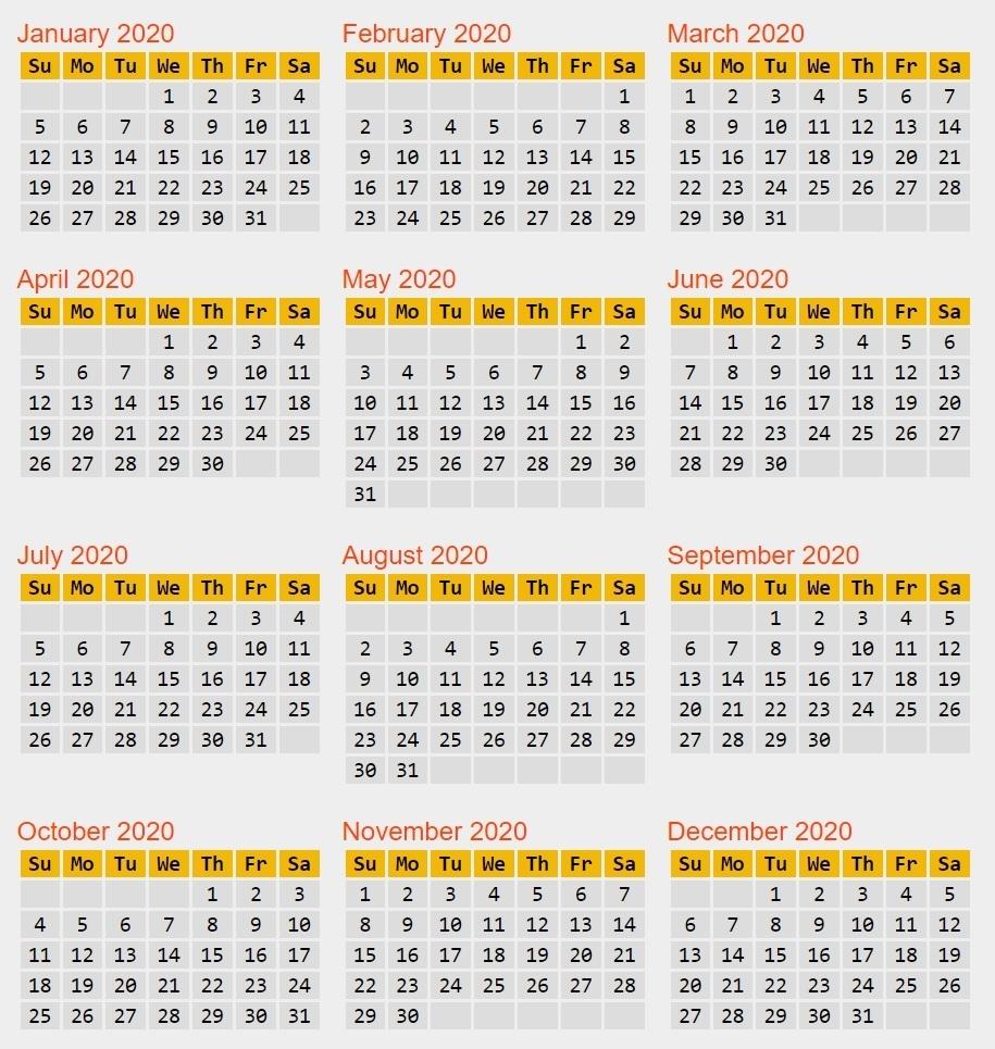 Calendar Reform Needed? within Leap 2020 Calendar-Year