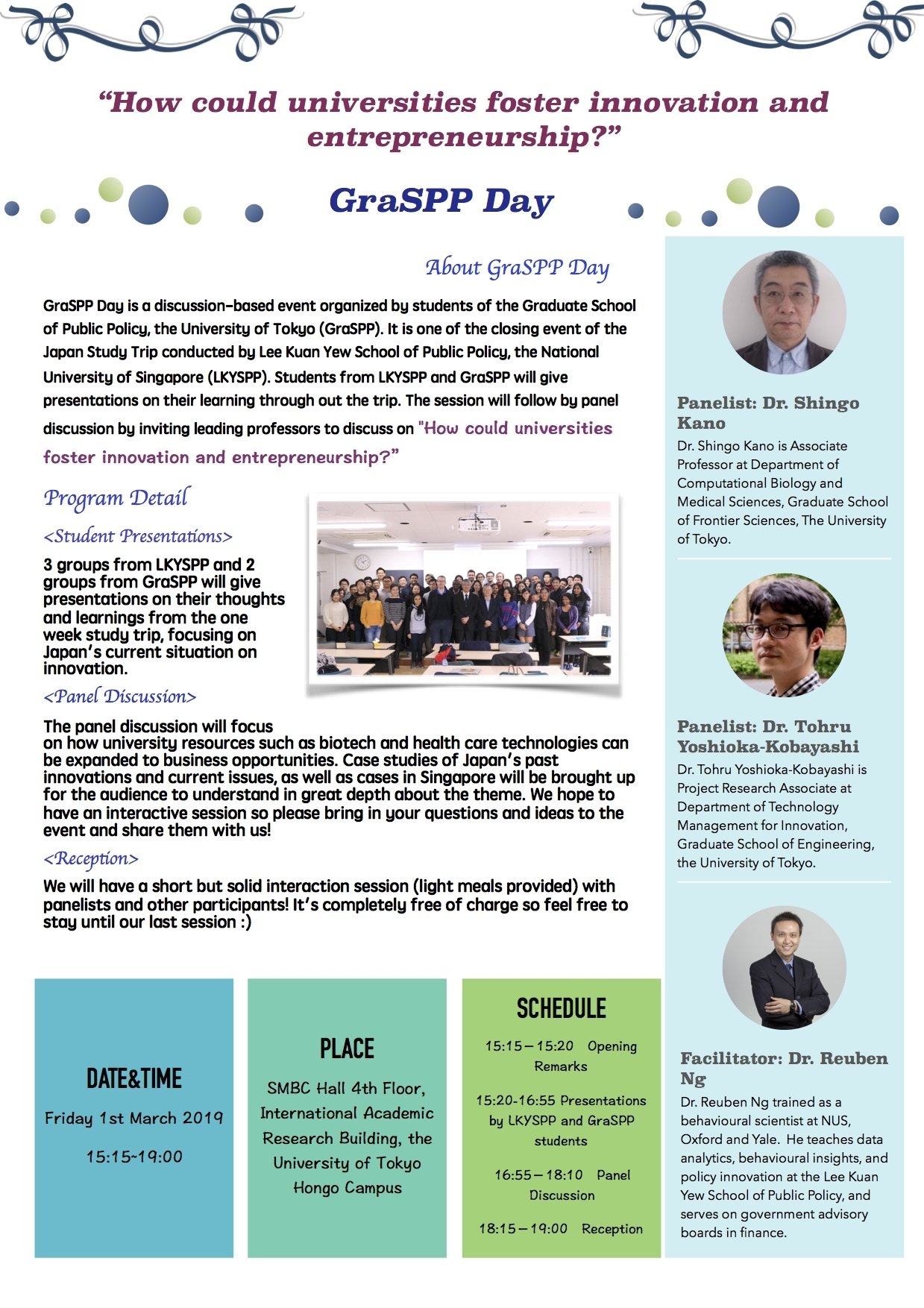 Call For Participants】Lky-Graspp Day 2019 | Graspp for Nus Academic Calendar 2019/2020 Schedule