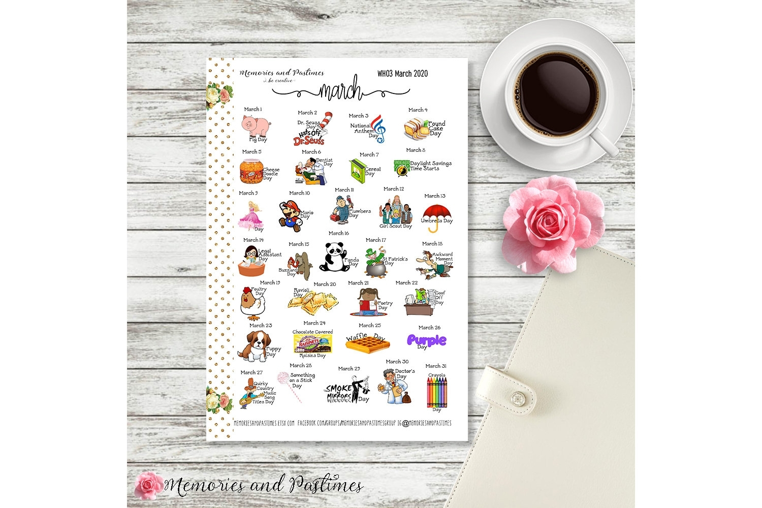 Celebrate March 2020 Planner Stickers National Holiday | Etsy intended for Special Days In 2020