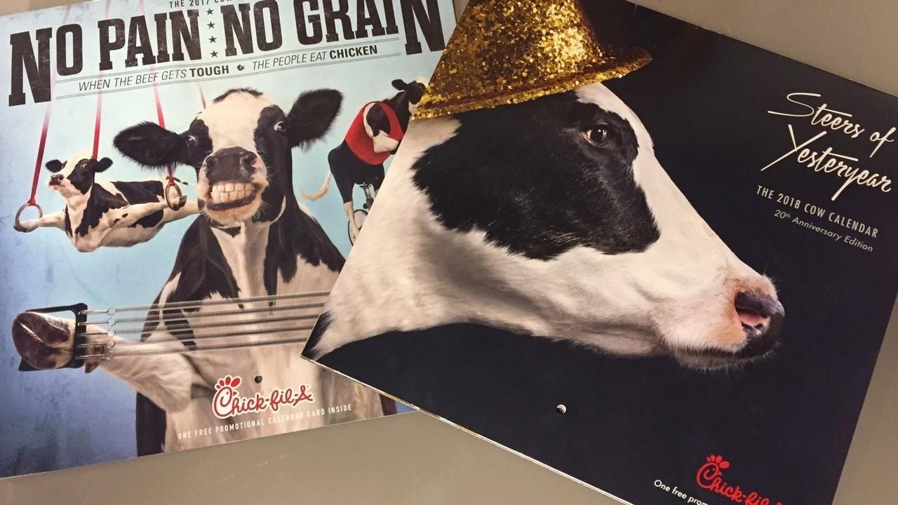 Chick-Fil-A Ends Cow Calendars within Chick-Fil-A Calender 2020