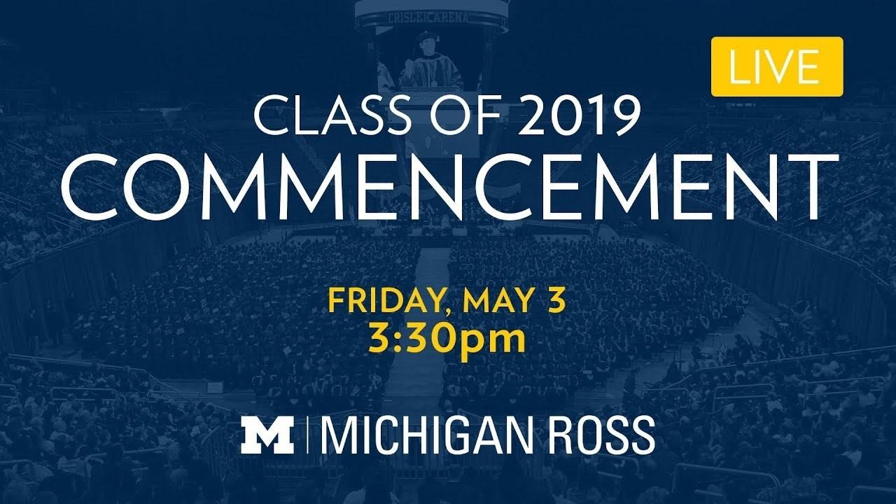 Commencement | Michigan Ross in U Of Michigan Calendar 2019-2020
