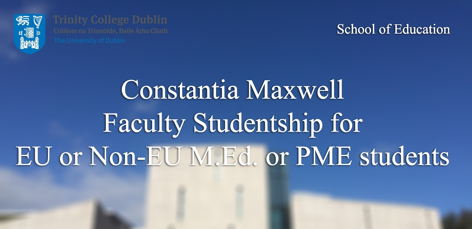 Constantia Maxwell Faculty Studentship 2019-2020 - School Of with regard to U Of M School Year 2019-2020