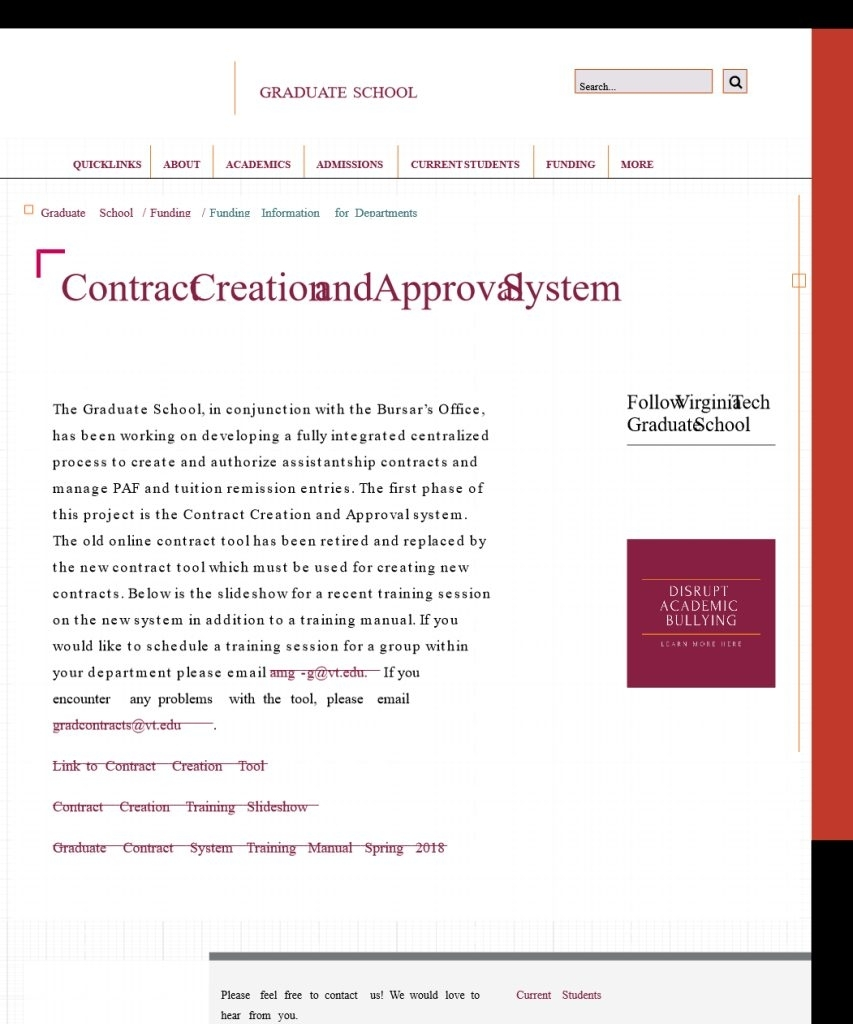 Contract Creation And Approval System | Graduate School | Virginia Tech throughout Virginia Tech Academic Calendar 2019 2020
