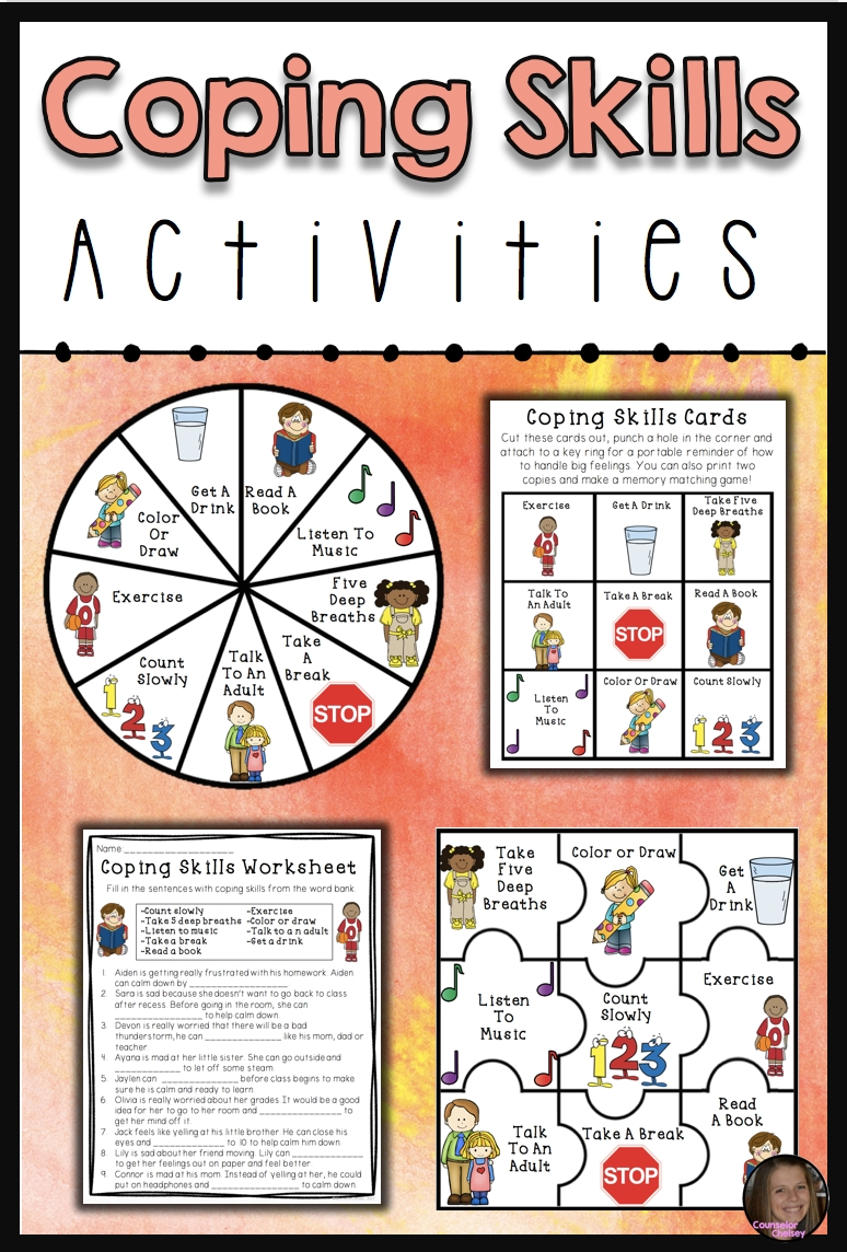 Coping Skills Activities | Behavioral Specialist | Coping Skills for Social Skills Fill In The Blank