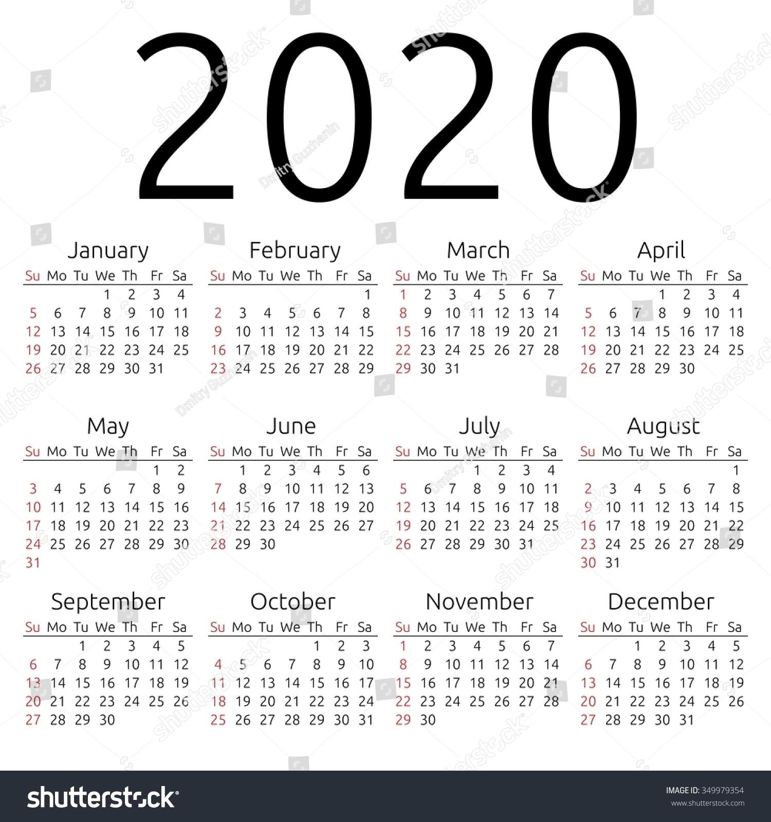Dashing 2020 Calendar With Week Numbers • Printable Blank Calendar for 2020 Calendar With Week Numbers In Excel