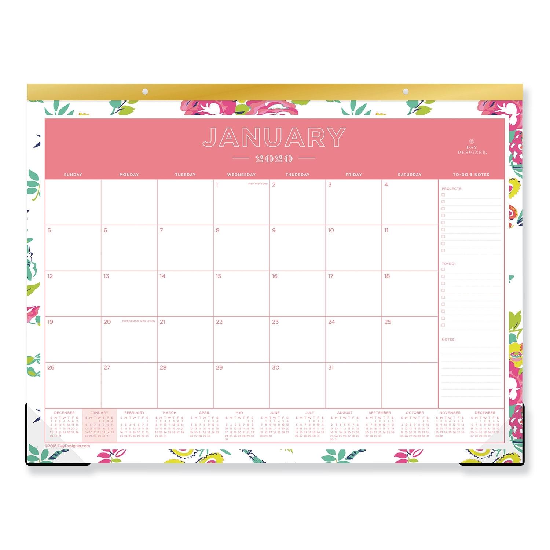 Day Designer Desk Pad Calendar, 22 X 17, 2020 - Sani-Chem Cleaning intended for Writing Calendar For 2020