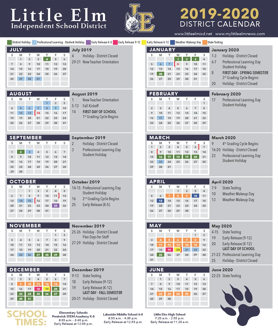 District Calendar / Academic Calendar within Calendar 2020 Pdf Romania