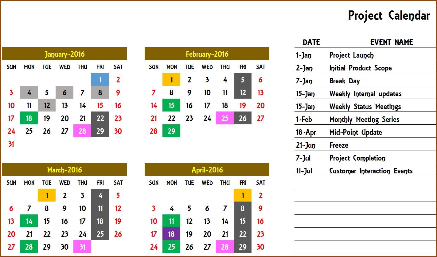 Event Calendar Maker Excel Template V3 - Support regarding Calendar Of Events Template Free