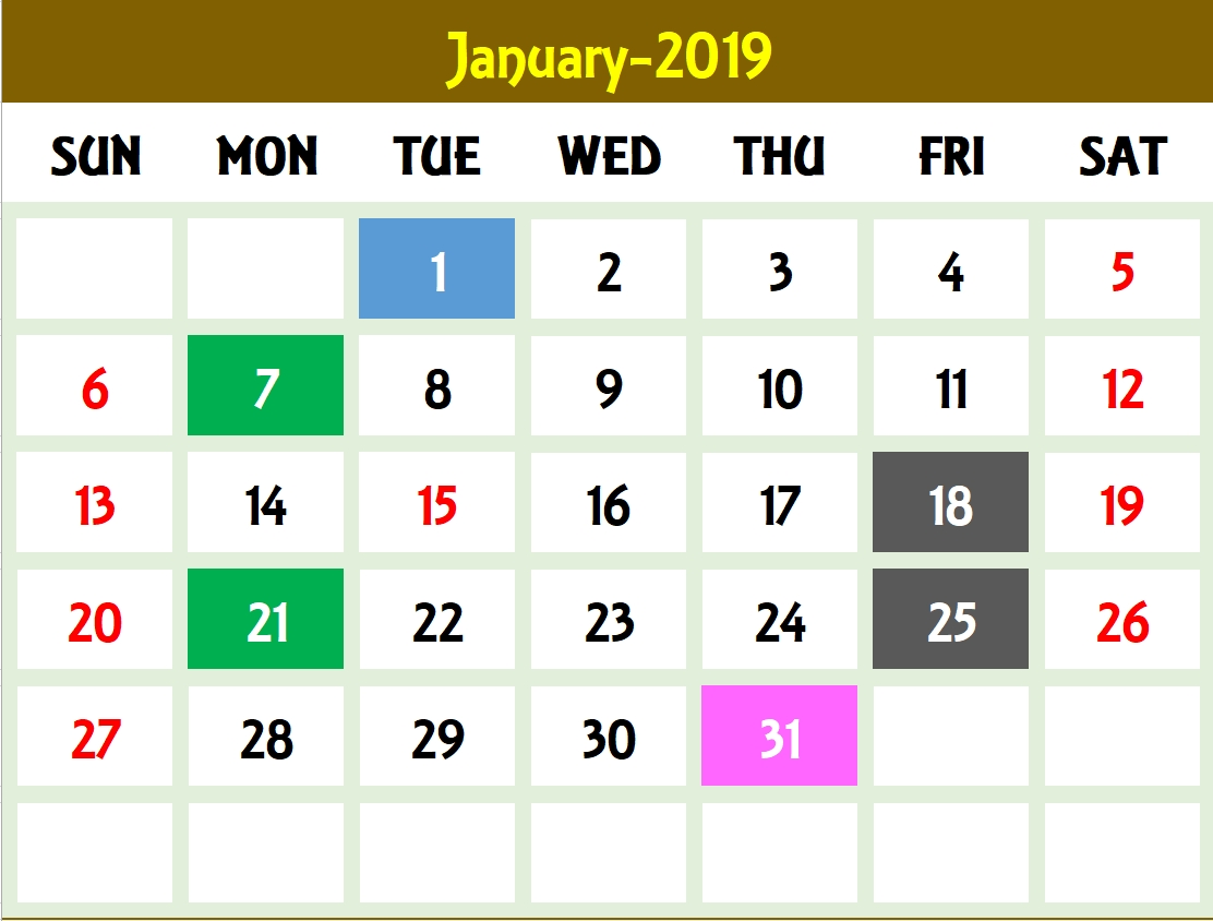 Excel Calendar Template - Excel Calendar 2019, 2020 Or Any Year pertaining to Calendar To Type On 2019 - 2020