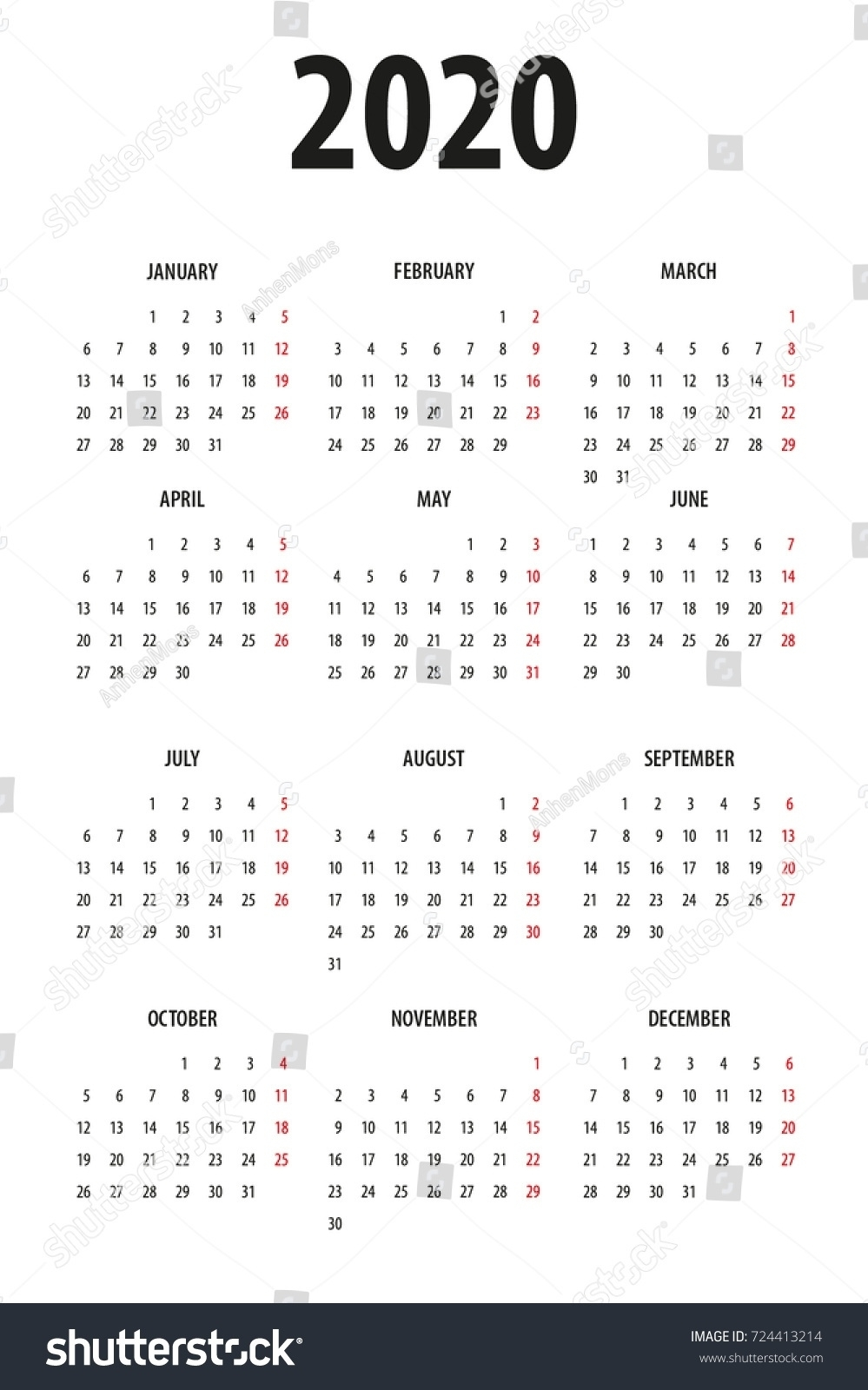 Exceptional 2020 Calendar Monday To Sunday • Printable Blank with 2020 Calendar Monday To Sunday