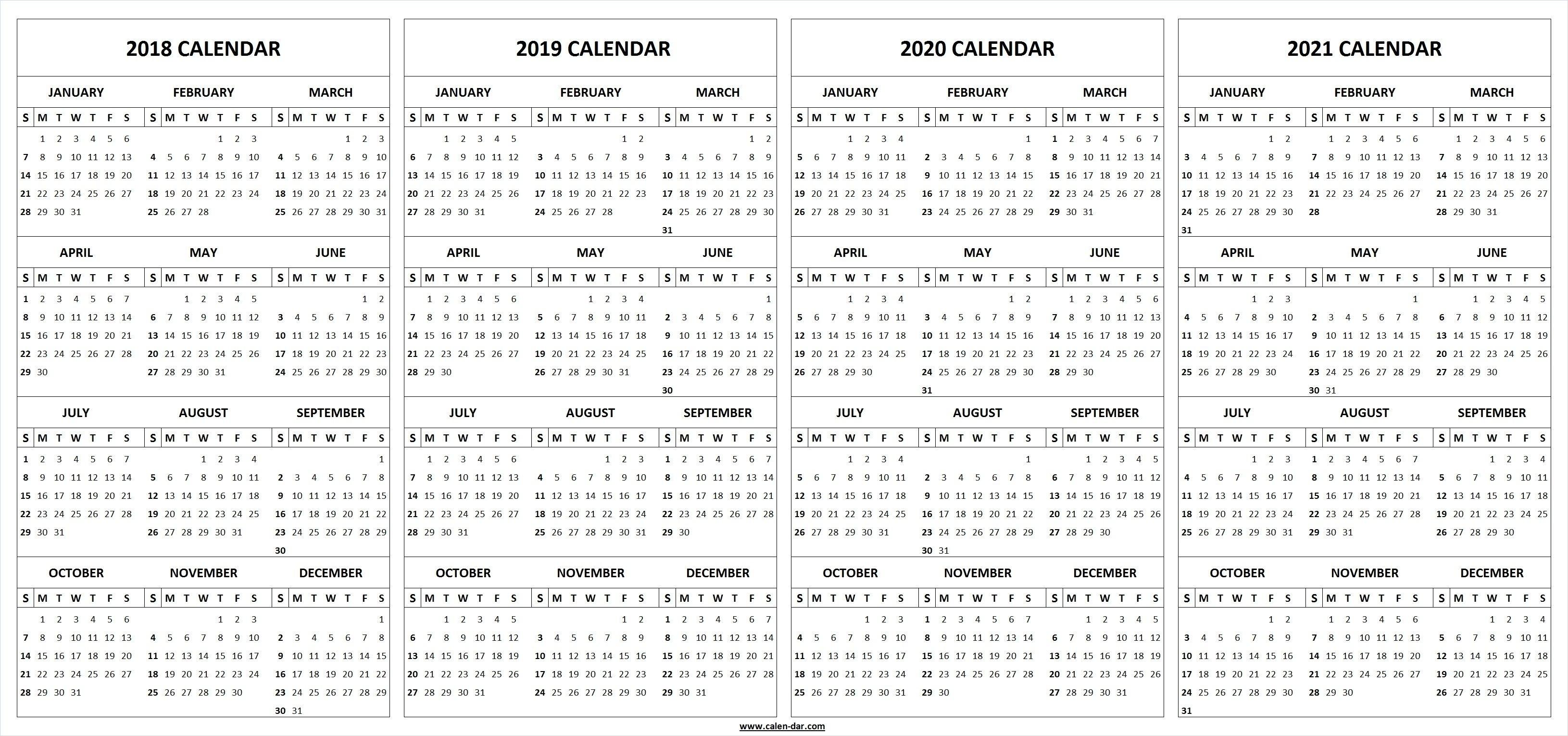 Extraordinary 3 Year Printable Calendar 2019 To 2020 • Printable throughout Three Year Calendar 2020 -2023