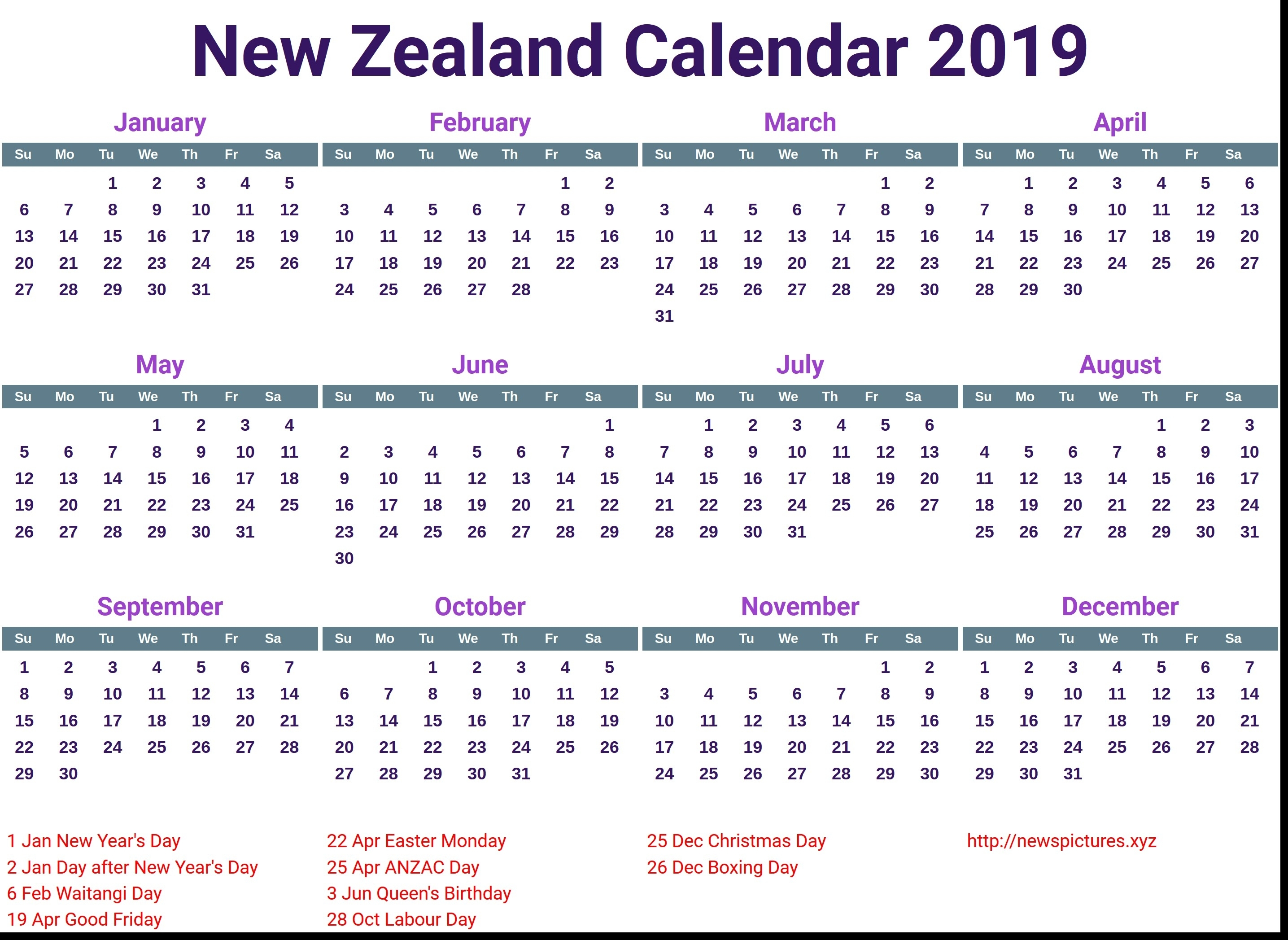 Extraordinary Calendar 2019 And 2020 Nz • Printable Blank Calendar in Uga 2019-2020Calendar