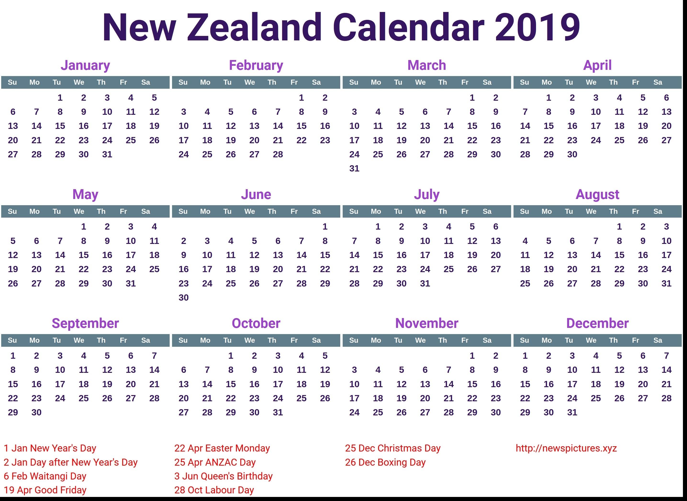 Extraordinary Calendar 2019 And 2020 Nz • Printable Blank Calendar regarding 2019-2020 Uga Calendar