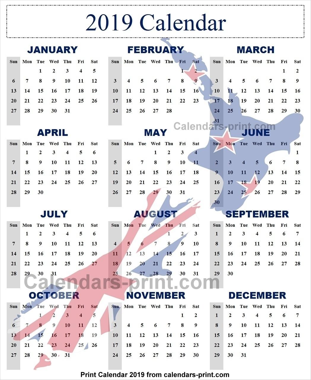 Extraordinary Calendar 2019 And 2020 Nz • Printable Blank Calendar throughout 2019-2020 Uga Calendar