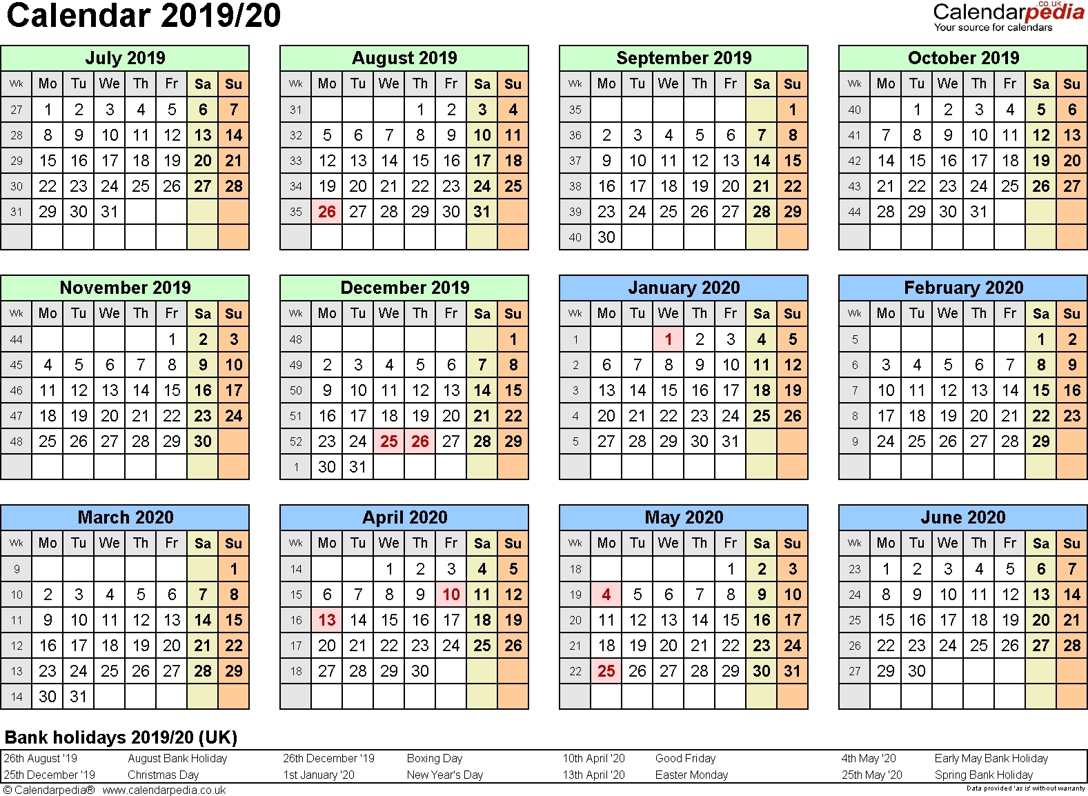 Extraordinary Calendar 2019 And 2020 Nz • Printable Blank Calendar with Uga 2019-2020Calendar