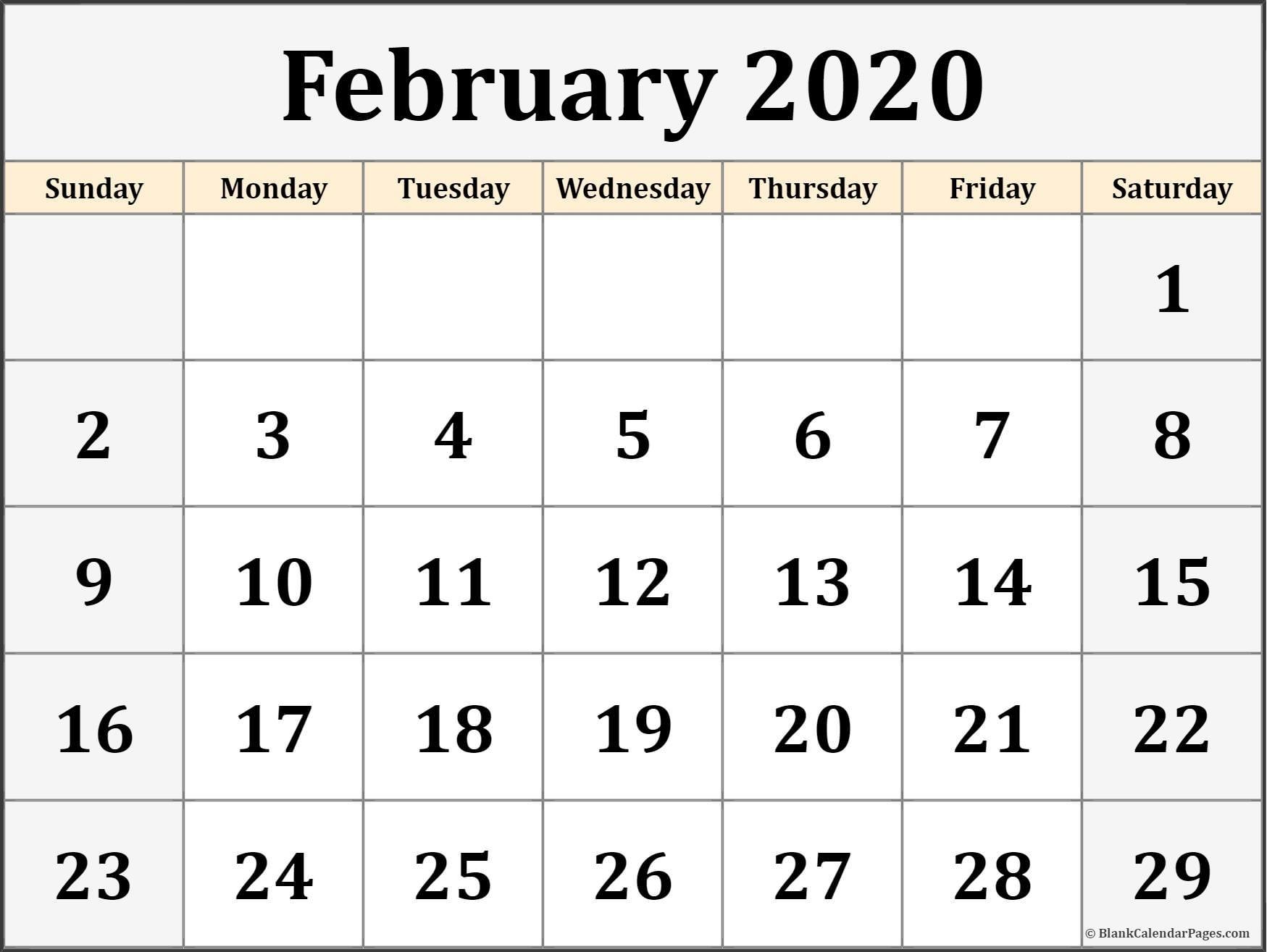 February 2019 Calendar Pdf - Free Printable Calendar, Templates And in Kalnirnay 2020 Holidays