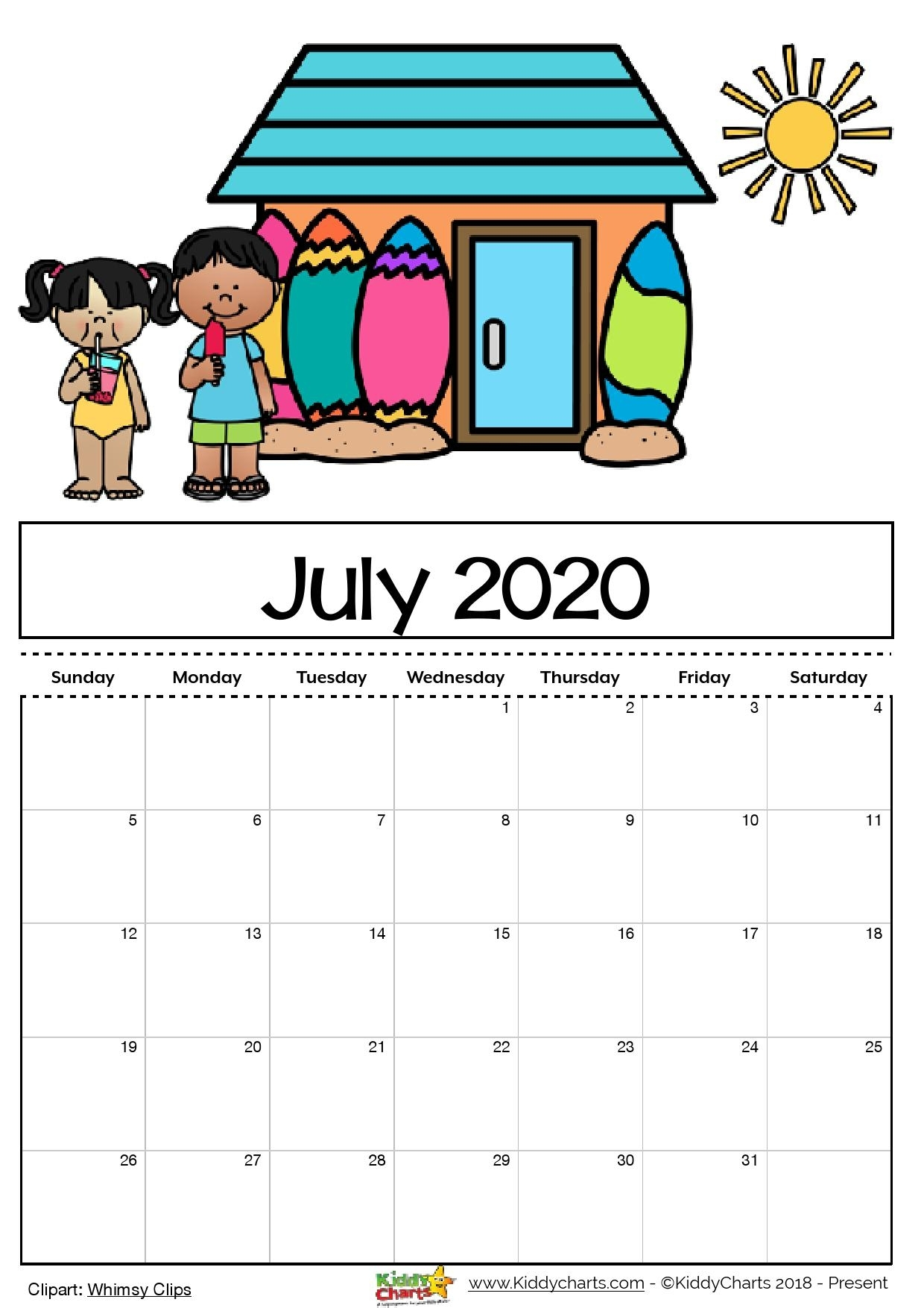 Free Printable 2020 Calendar For Kids, Including An Editable Version pertaining to Printable Coloring Calendar 2020