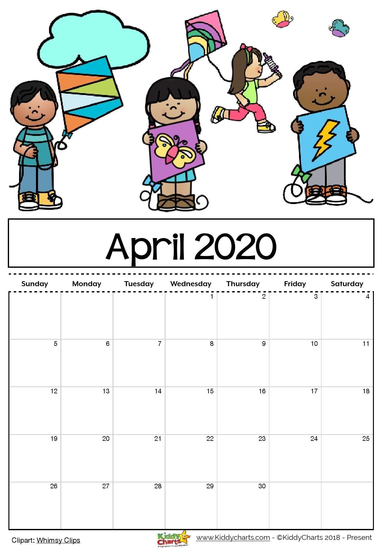 Free Printable 2020 Calendar For Kids, Including An Editable Version with Printable Coloring Calendar 2020