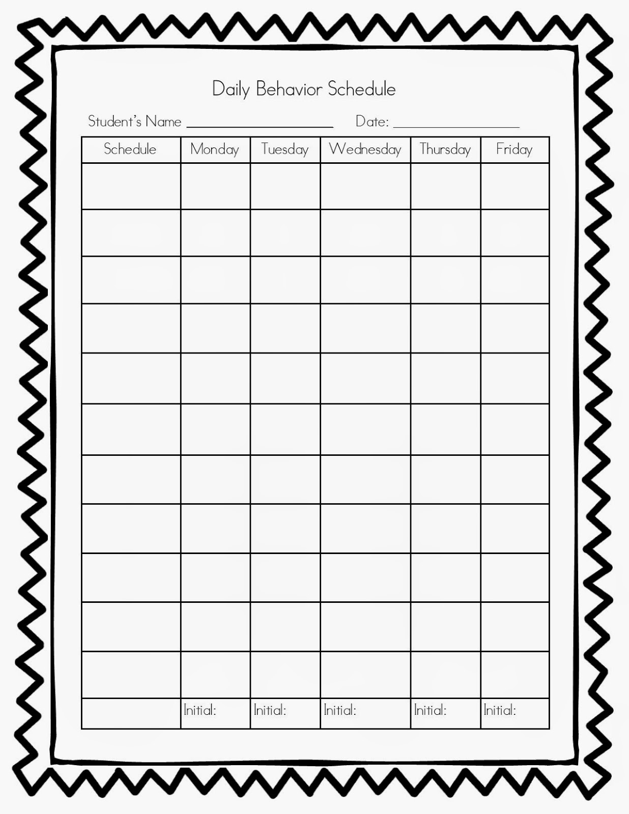 Free Printable Behavior Charts Pbis | Template Calendar Printable throughout Free Printable Behavior Charts Pbis