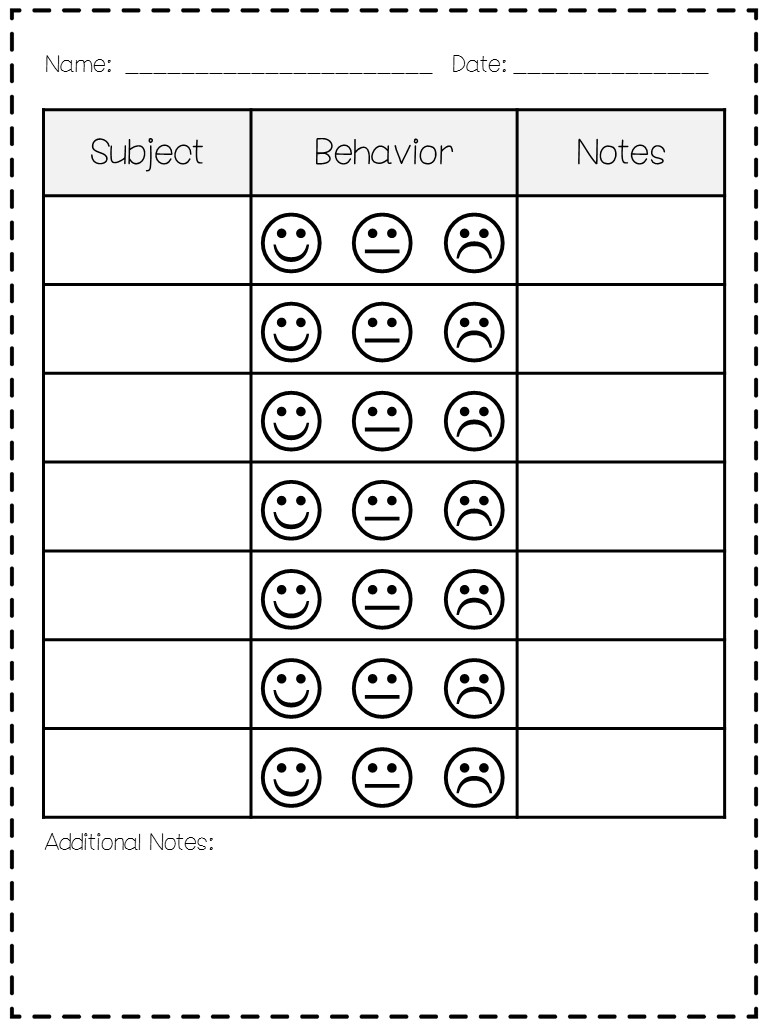 Free Printable Behavior Charts Pbis | Template Calendar Printable with regard to Free Printable Behavior Charts Pbis