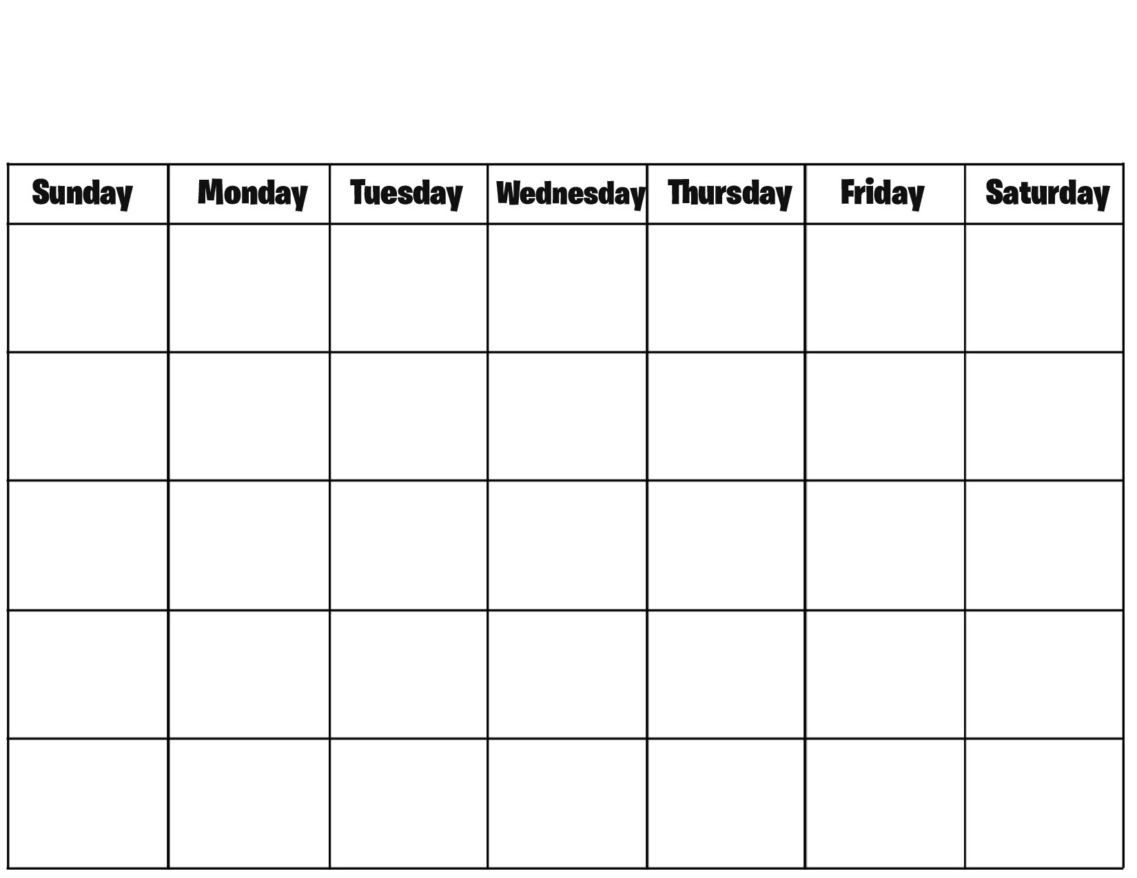 Free Printable Blank Calendar Pages Printable Calendar Templates throughout Printable Calendar Templates Full Page
